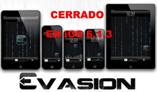 evasion closed ios 6.1.3