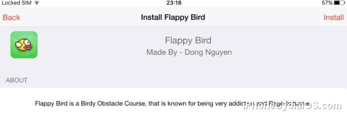 iOSEmus Flappy Bird
