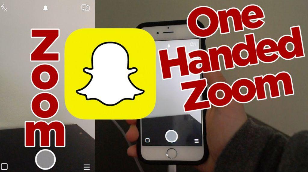 Snapchat One-handed Zoom