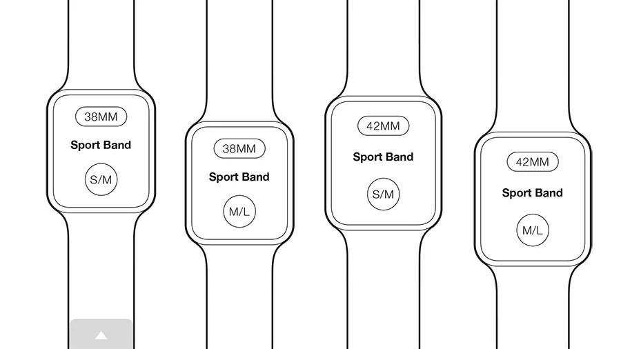 Skriv ut och testa storlekarna av Apple Watch