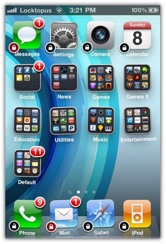 Locktopus  Password Protect Iphone Apps