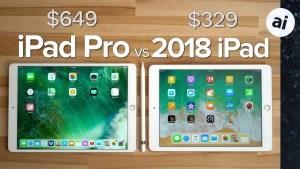 iPad 2018 vs iPad Pro - Price