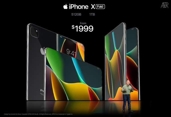 De La Rosa iPhone X Fold Concept Image