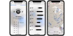 2. Dark Sky – Top Rated Weather App for iPhone in Terms of Design and Accuracy