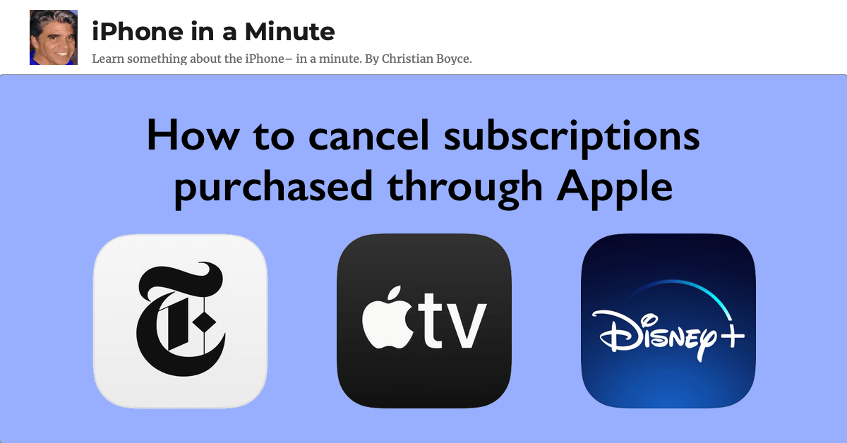 How to cancel subscriptions purchased through Apple