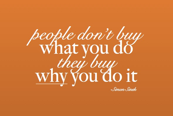 people don't buy what you do they Buy Why you do it