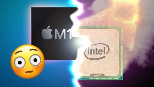 مقارنة بين سرعة M1 MacBook Pro و Intel MacBook Pro