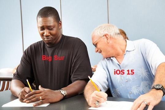 iOS 15 copy from macOS Big Sur