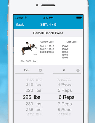 workout spreadsheet app - April.onthemarch.co