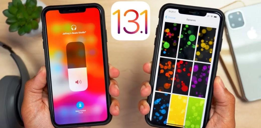 iOS 13.1 beta на iPhone