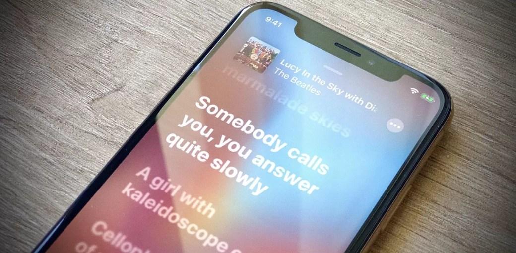 Режим караоке в приложении Музыка в iOS 13