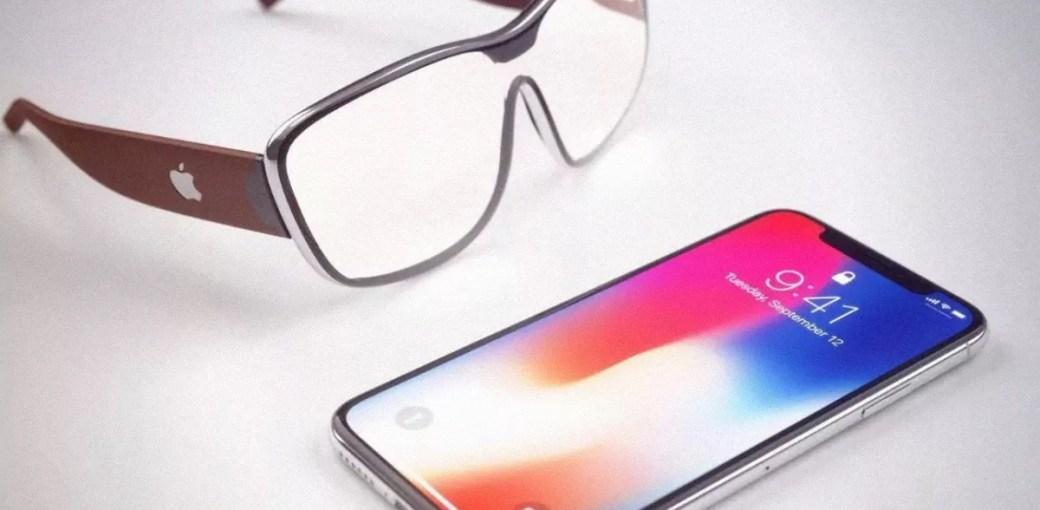 Концепт AR-очков от Apple и iPhone X