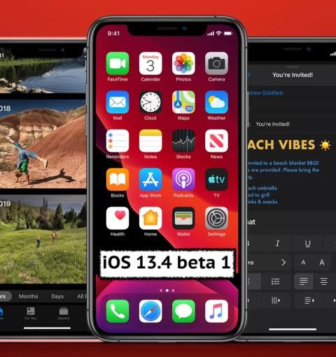 iOS 13.4 beta 1