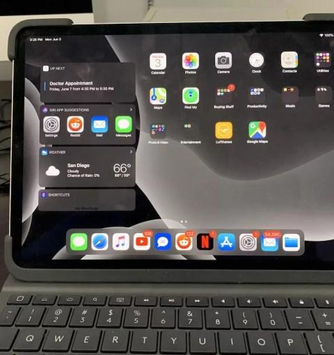 iPadOS 13 на iPad Pro