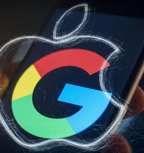 Логотипы Apple и Google