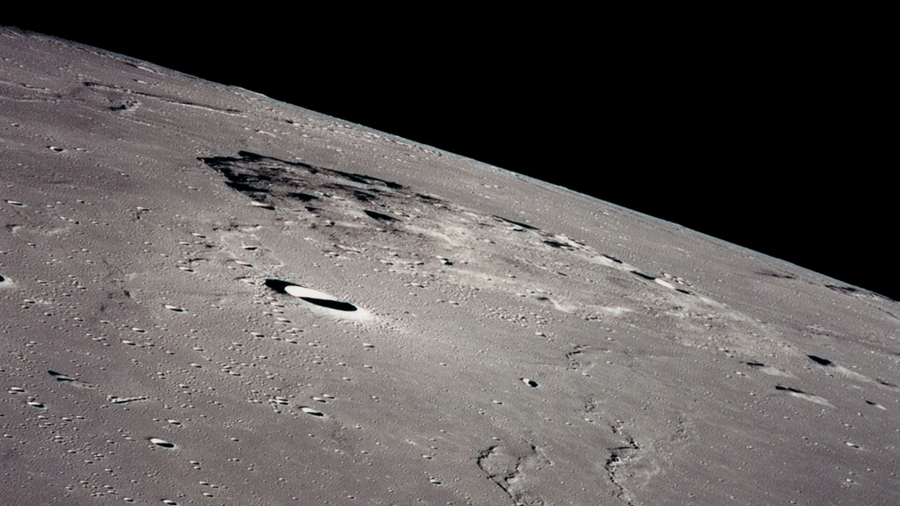 Image showing a section of the moon