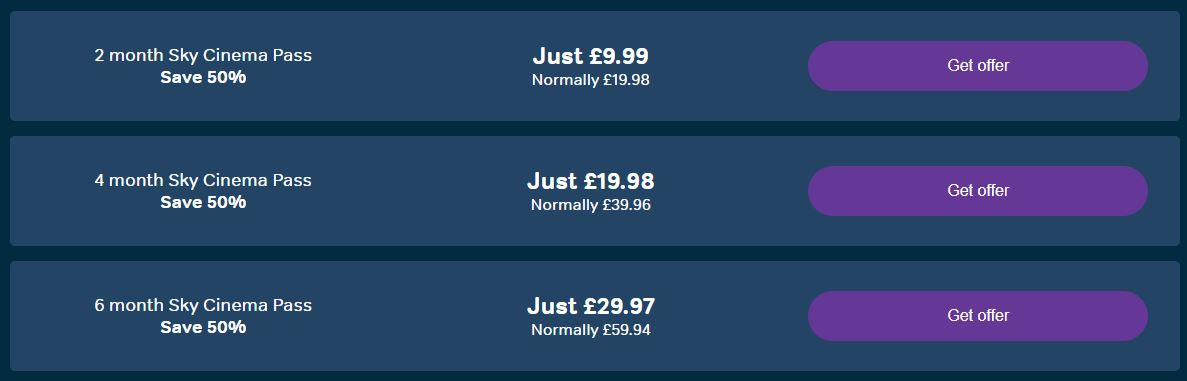 now tv sky cinema deals