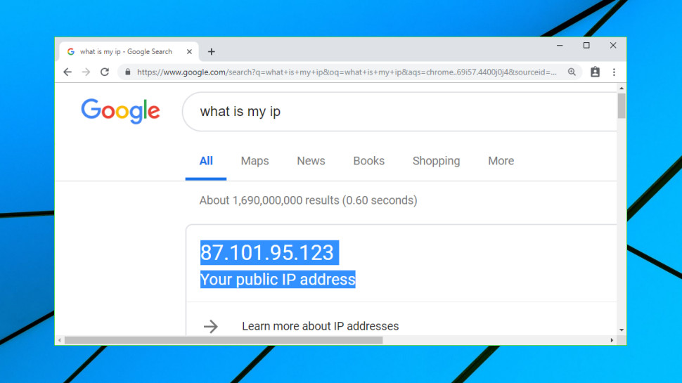 Finding your public IP address