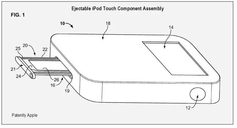 Apple patents an iPod Touch expansion to connect SIM Card