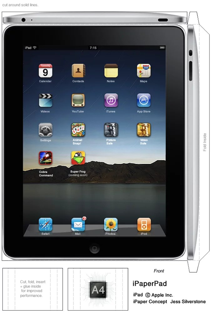 Make Your Own Full Size Paper iPad   iPhoneRoot.com