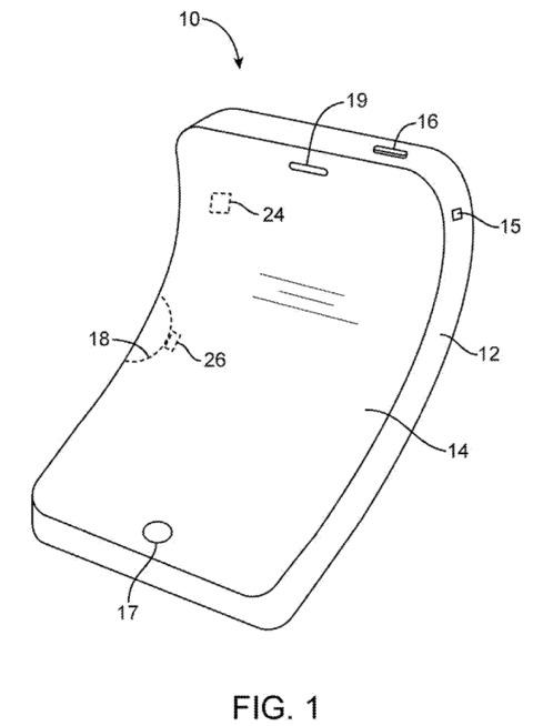 Un iPhone elástico en una patente de Apple en iPhoneros