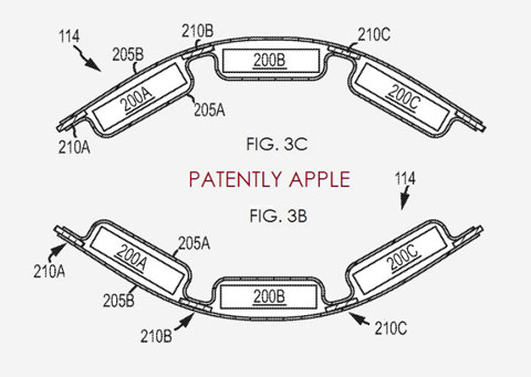 Baterías flexibles descritas en una patente de Apple en