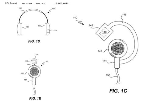 Sensores en los auriculares descritos por una nueva