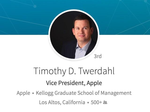 LinkedIn de Timothy D. Twerdahl