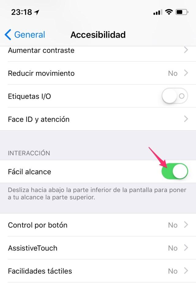 Fácil alcance en la App de Ajuste
