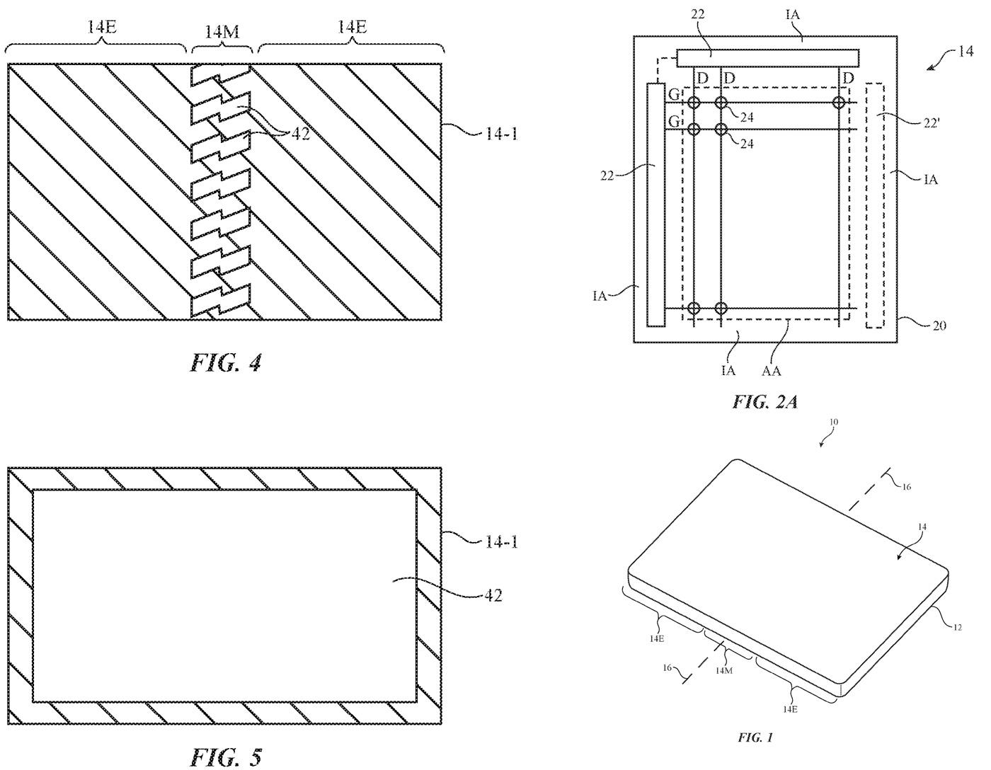 Apple patenta una pantalla que se puede doblar como un