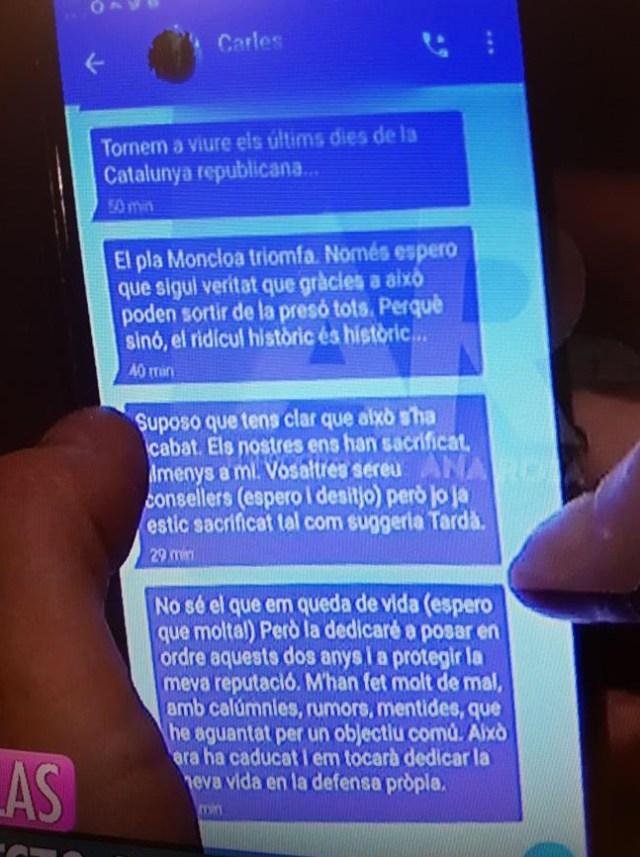 Mensaje de Carles Puigdemont
