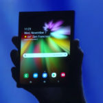 Prototipo de smartmovil que se dobla de Samsung