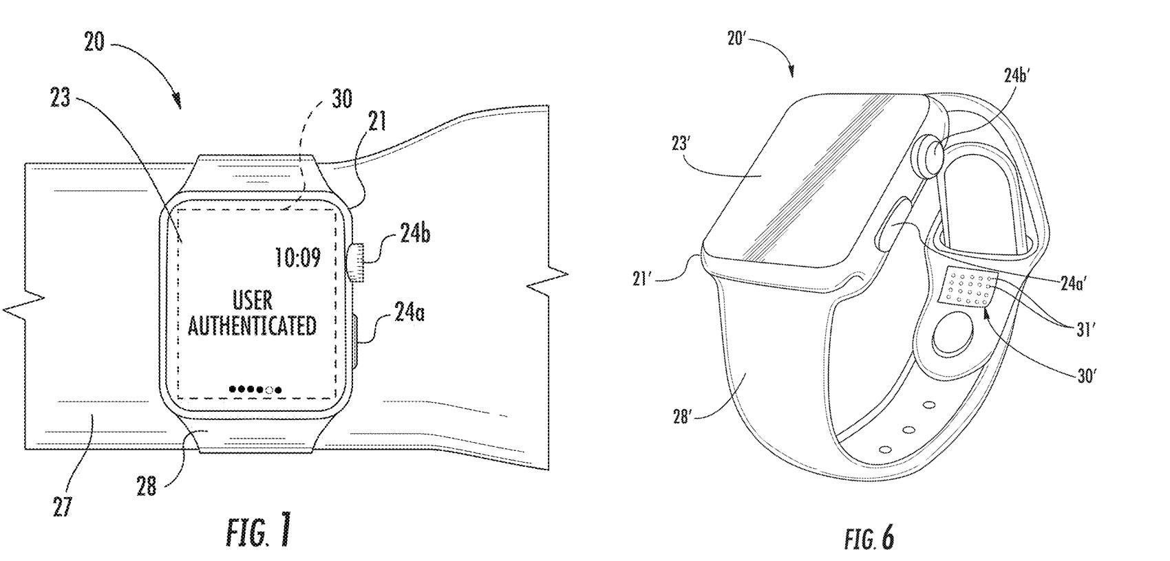 Nuevas patentes de Apple para el Apple Watch: Correa que