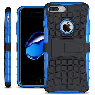 Just in Case Rugged Hybrid iPhone 7/8 Plus Case - Blauw