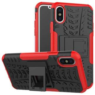 Just in Case Rugged Hybrid iPhone X Case - Rood