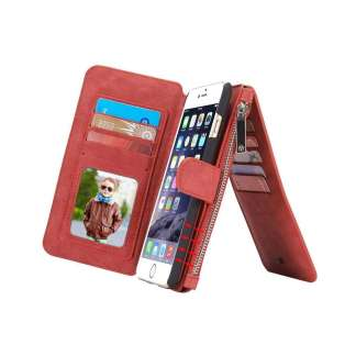 CaseMe Retro Portemonnee Hoesje iPhone 6/6s Plus  - Rood