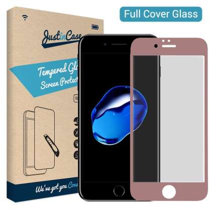 Just in Case Full Cover Tempered Glass iPhone 8/7 Plus (Rose Goud)