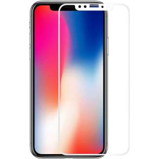 Just in Case Full Cover Tempered Glass iPhone X (Wit)