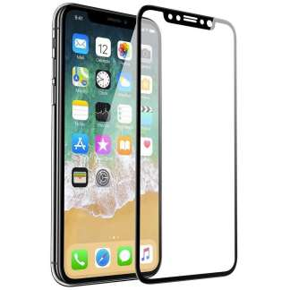 Just in Case Full Cover Tempered Glass iPhone X (Zwart)