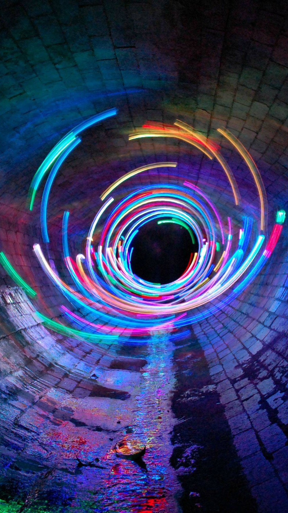 Cute Wallpapers Quotes For Girls Long Exposure Lights Tunnel Iphone Wallpaper Iphone
