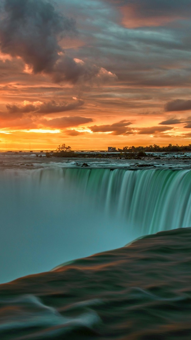 Hd Christmas Wallpaper Cute Niagara Falls Sunset Wallpaper Iphone Wallpaper Iphone