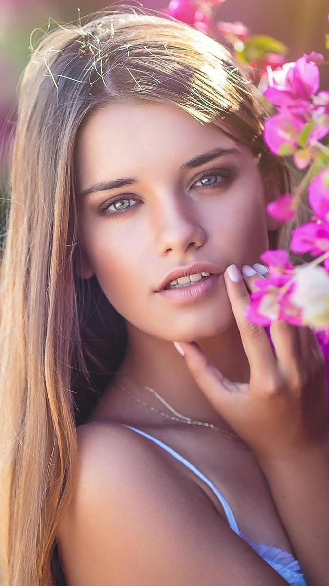 Girl Model Color Beauty Look IPhone Wallpaper IPhone
