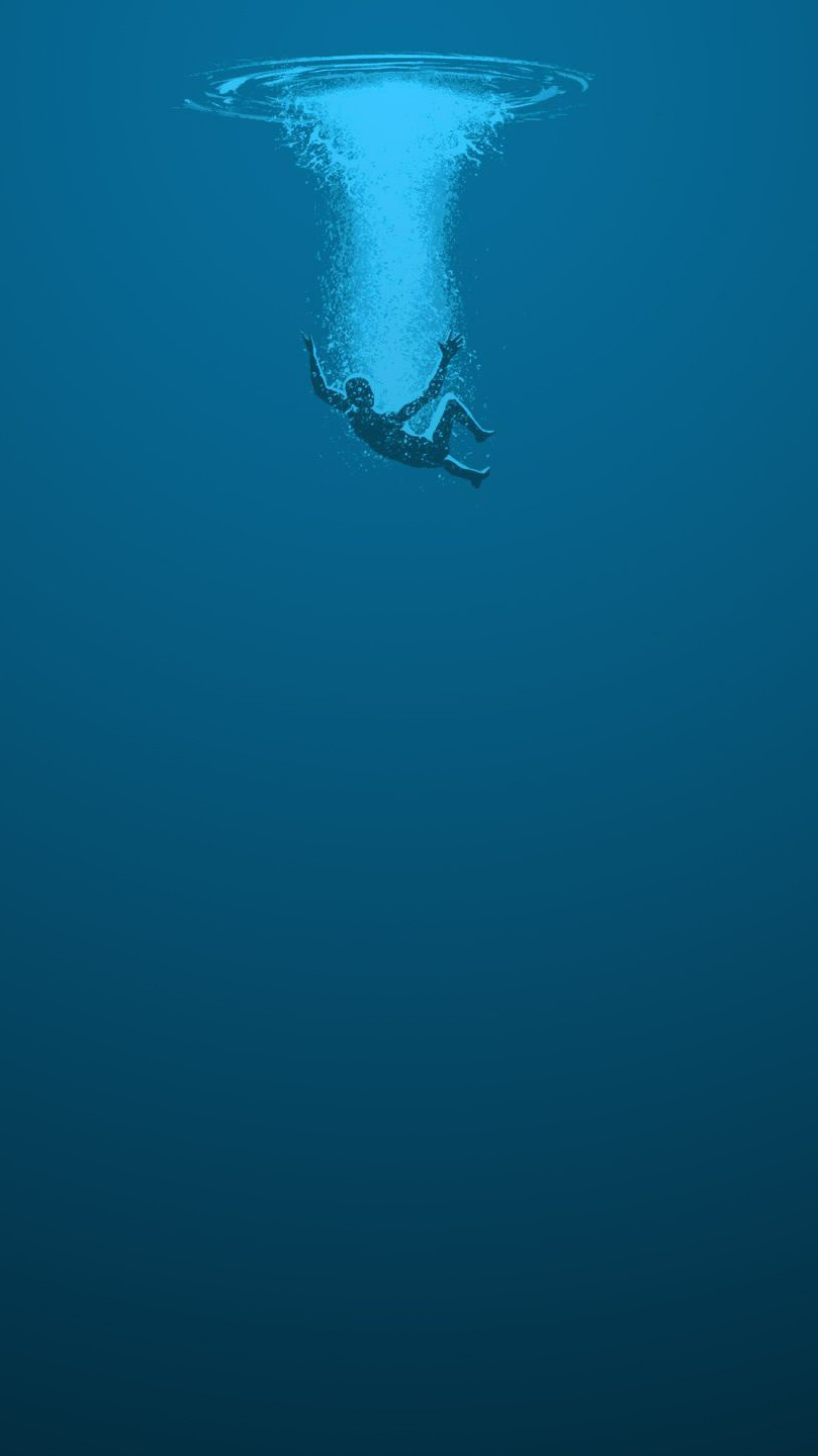 Falling Into Water Wallpaper Drown In Water Iphone Wallpaper Iphone Wallpapers