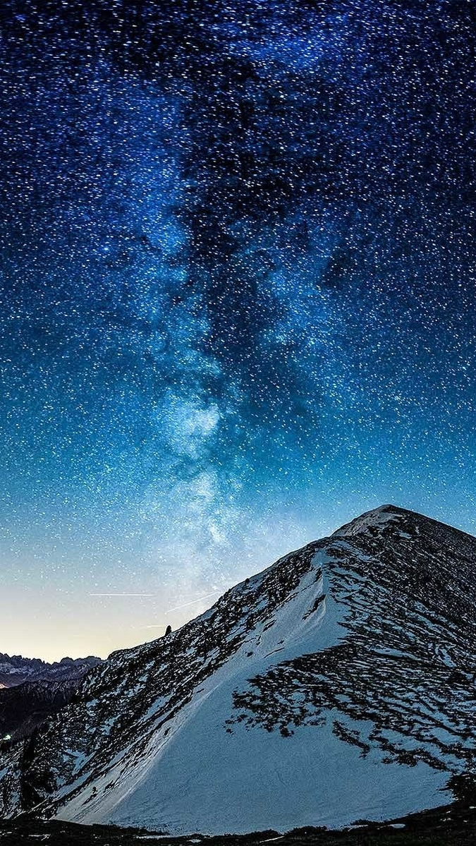 Quotes Wallpaper For Iphone 7 Plus Milky Way Galaxy View From Mountain Iphone Wallpaper