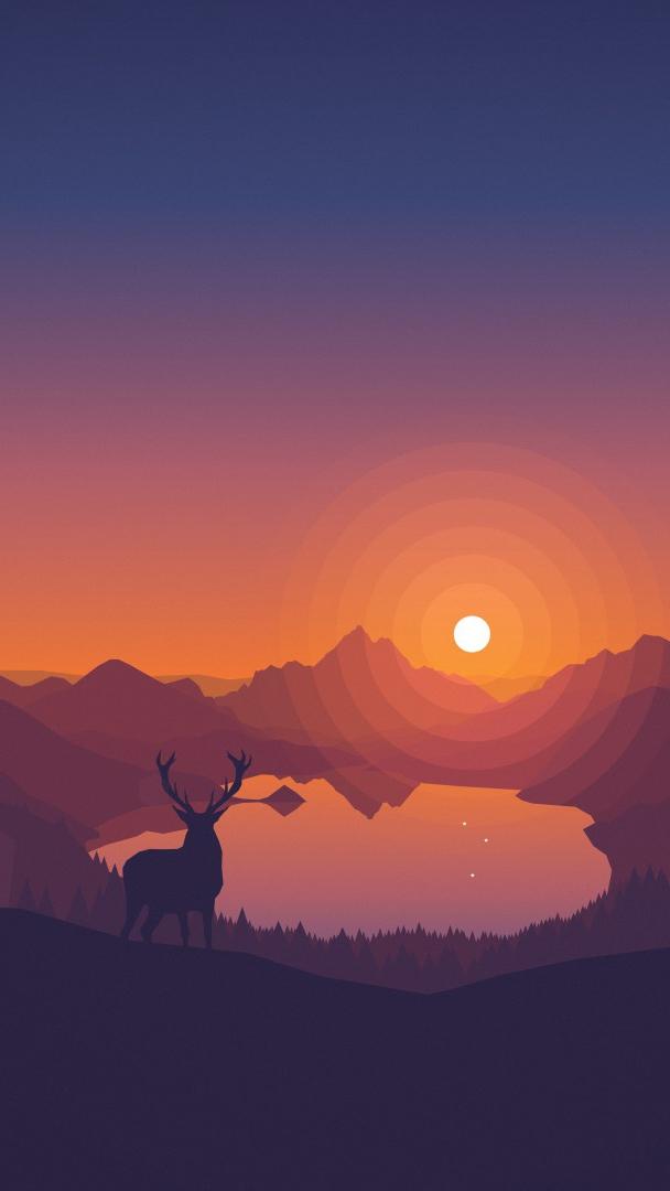 I Love You Cute Wallpaper Download Minimal Sunset Forest Iphone Wallpaper Iphone Wallpapers