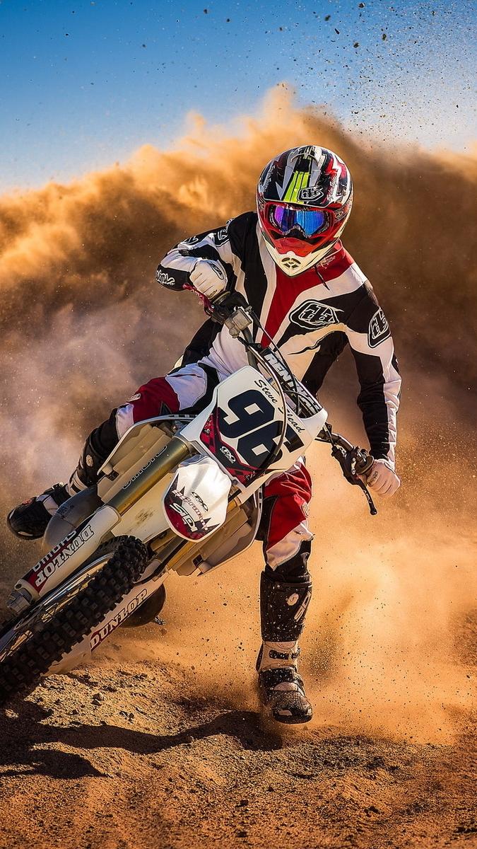 Bike With Girl Hd Wallpaper Motocross Biker Mud Racing Iphone Wallpaper Iphone