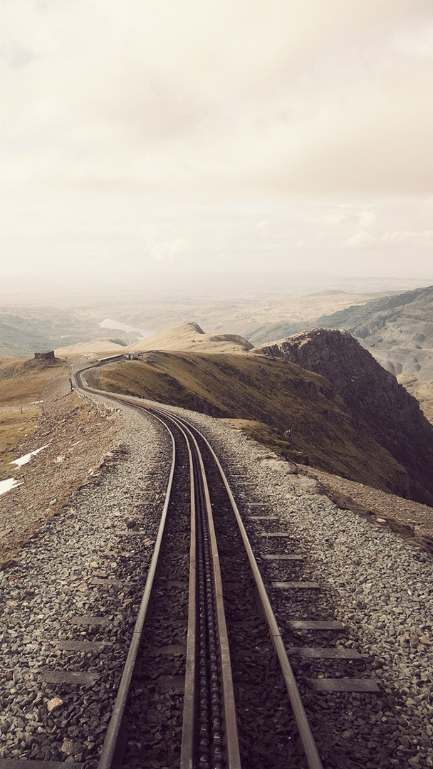 Iphone Wallpapers Com Mountain Railway Track Iphone Wallpaper Iphoneswallpapers