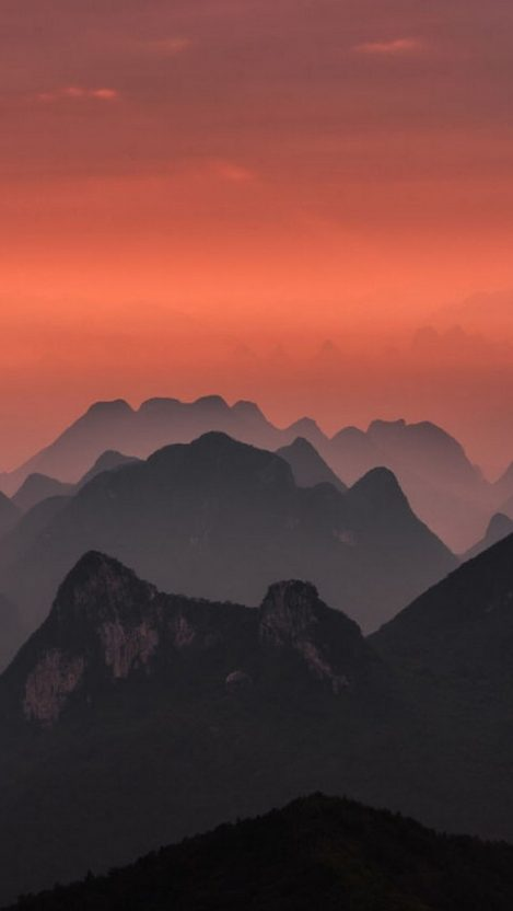 Cute Pink Wallpaper Quotes Sunrise In Guilin China Landscape Nature Iphone Wallpaper