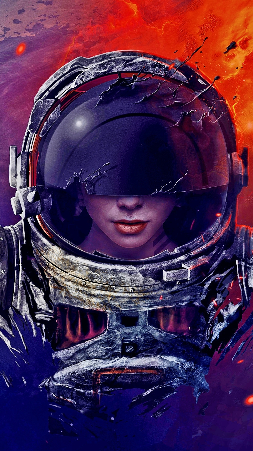 Hd Moving Wallpapers For Desktop The Ghost Astronaut Artistic Iphone Wallpaper Iphone
