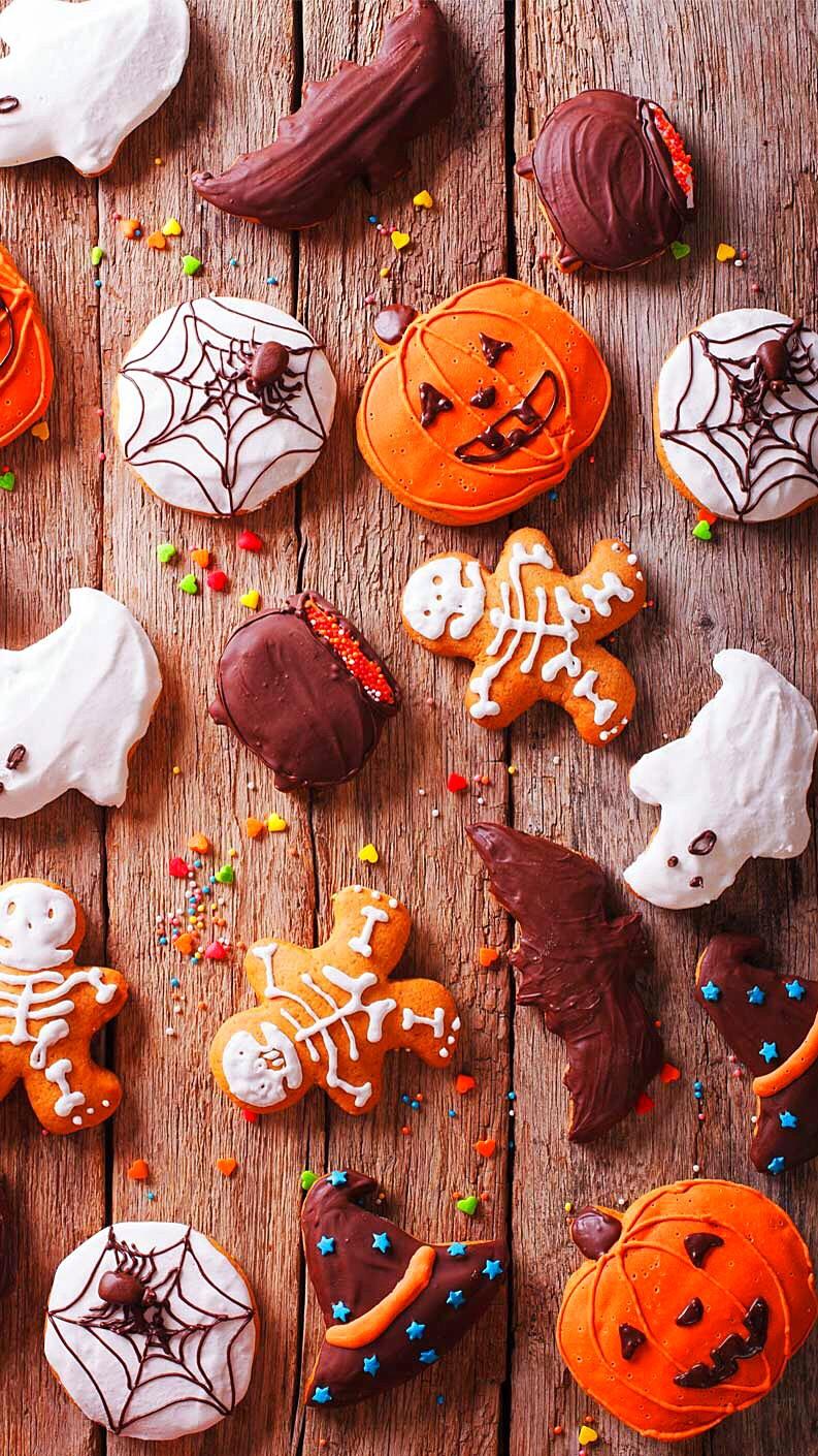 Fall Pumpkins Desktop Wallpaper Chocolate Holloween Iphone Wallpaper Iphone Wallpapers